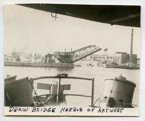 Primary view of object titled '[A Draw Bridge in an Antwerp Harbor]'.