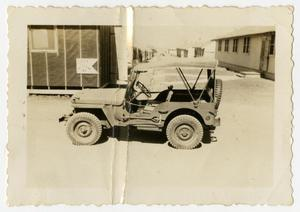 Primary view of object titled '[Jeep at Camp Barkeley]'.