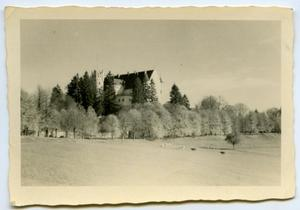 Primary view of object titled '[Photograph of Castle in Countryside]'.
