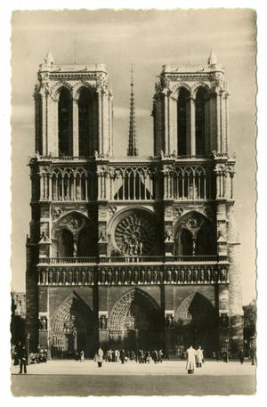 Primary view of object titled '[Postcard of Notre-Dame Cathedral]'.