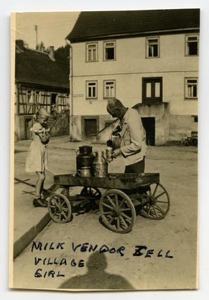 Primary view of object titled '[A Milk Vendor and Child]'.