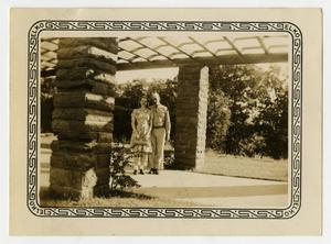 Primary view of object titled '[Soldier and Woman at Abilene State Park]'.