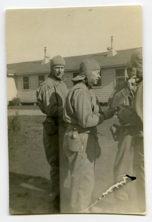 Primary view of object titled '[A Group of Soldiers Talking Together]'.