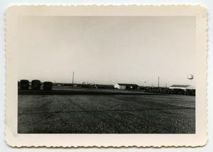 Primary view of object titled '[Photograph of a Motor Pool]'.