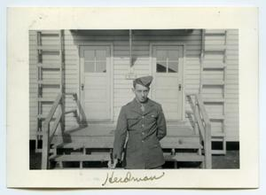 Primary view of object titled '[Photograph of a Soldier at Camp]'.