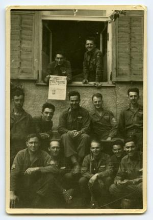 Primary view of object titled '[A Group of Soldiers by a Window]'.