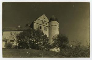 Primary view of object titled '[Photograph of a Building with a Round Tower]'.
