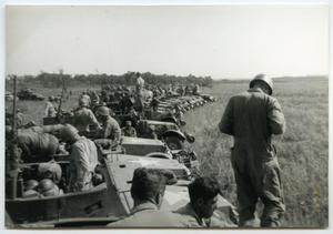 Primary view of object titled '[Photograph of Maneuvers at Camp Barkeley'.