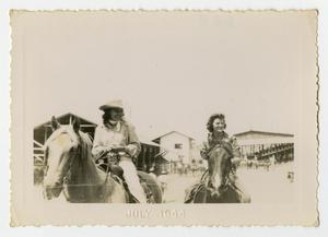 Primary view of object titled '[Two Women Ride Their Horses]'.