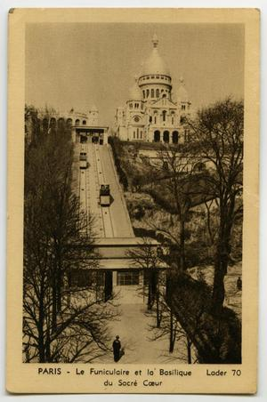 Primary view of object titled '[Postcard of Montmartre Funicular Railway]'.