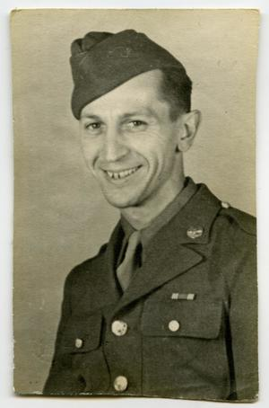 Primary view of object titled '[Photograph of a Smiling Soldier]'.