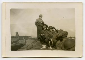 Primary view of object titled '[Soldiers Sitting on an Armored Vehicle]'.