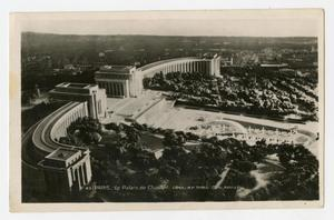 Primary view of object titled '[Postcard of Palais de Chaillot]'.