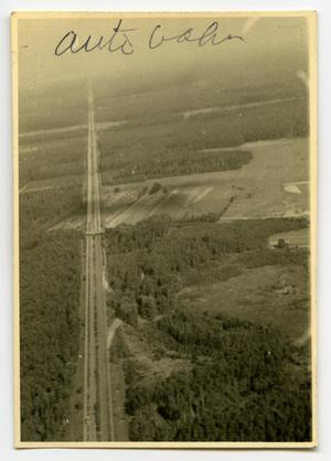 Primary view of object titled '[Aerial Photograph of the Autobahn]'.