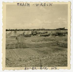 Primary view of object titled '[Photograph of Train Wreck]'.