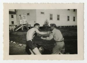 Primary view of object titled '[Photograph of Boxing Soldiers]'.
