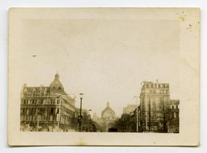 Primary view of object titled '[Photograph of Large Buildings in a European City]'.