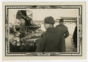 Primary view of object titled '[Men Near Tank]'.