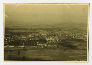 Primary view of object titled '[Aerial Photograph of City and Country]'.