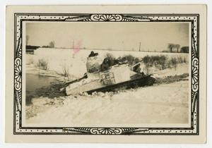 Primary view of object titled '[Tank Near Edge of Pond]'.