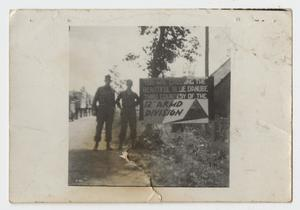 Primary view of object titled '[12th Armored Sign on Blue Danube]'.