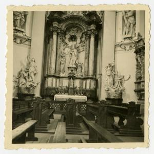 Primary view of object titled '[Photograph of German Church Alter]'.