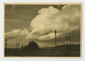 Primary view of object titled '[Photograph of Landscape and Clouds]'.