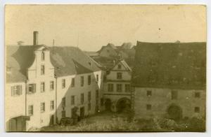 Primary view of object titled '[Photograph of a Cluster of Buildings]'.
