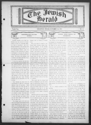 The Jewish Herald (Houston, Tex.), Vol. 4, No. 6, Ed. 1, Thursday, October 26, 1911