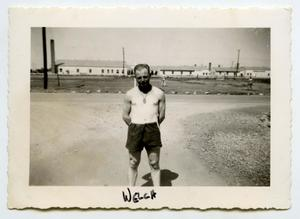 Primary view of object titled '[Photograph of a Soldier in Shorts]'.