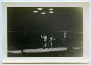 Primary view of object titled '[Photograph of Boxing Match]'.