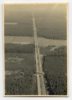 Primary view of object titled '[Aerial Photograph of Highway in Countryside]'.