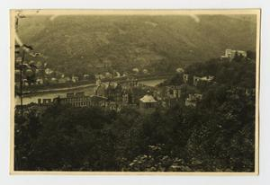 Primary view of object titled '[Photograph of Heidelberg Castle]'.