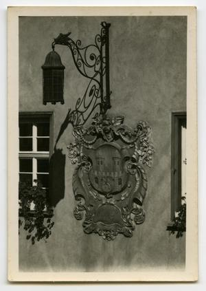 Primary view of object titled '[Photograph of a Wall Plaque]'.