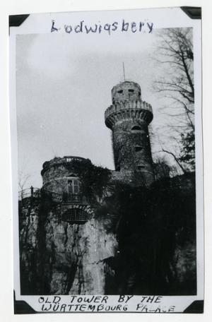 Primary view of object titled '[Tower by Wurttembourg Palace]'.