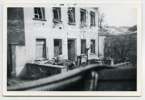 Primary view of object titled '[Photograph of a Town in Germany]'.