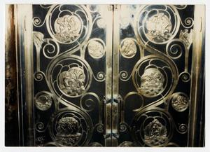 Primary view of object titled '[Photograph of Gilded Doors]'.