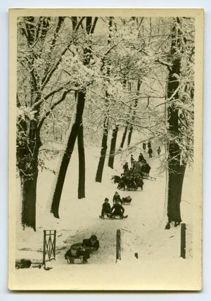 Primary view of object titled '[Photograph of Sledding]'.