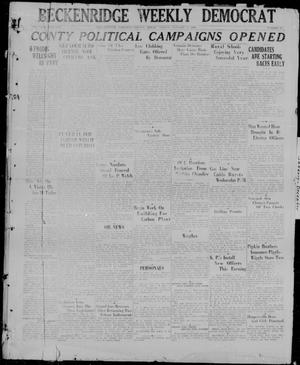 Primary view of object titled 'Breckenridge Weekly Democrat (Breckenridge, Tex), No. 24, Ed. 1, Friday, January 8, 1926'.