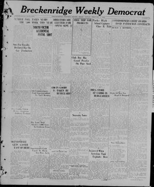 Primary view of object titled 'Breckenridge Weekly Democrat (Breckenridge, Tex), No. 28, Ed. 1, Friday, February 5, 1926'.