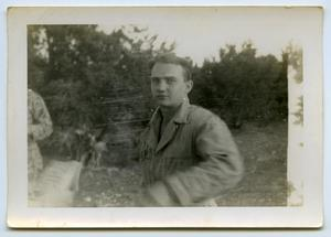 Primary view of object titled '[A Soldier Looks to the Camera]'.