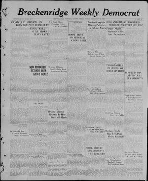 Primary view of object titled 'Breckenridge Weekly Democrat (Breckenridge, Tex), No. 31, Ed. 1, Friday, February 26, 1926'.