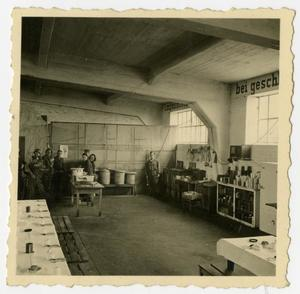 Primary view of object titled '[Photograph of Fulda Mess Hall]'.