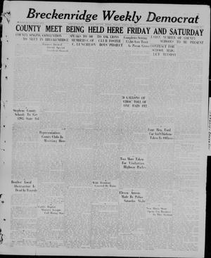 Primary view of object titled 'Breckenridge Weekly Democrat (Breckenridge, Tex), No. 35, Ed. 1, Friday, March 26, 1926'.