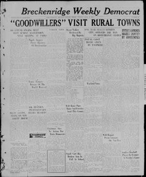 Primary view of object titled 'Breckenridge Weekly Democrat (Breckenridge, Tex), No. 37, Ed. 1, Friday, April 9, 1926'.
