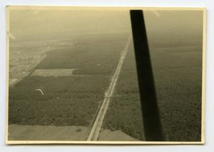 Primary view of object titled '[Aerial Photograph of Road in Countryside]'.