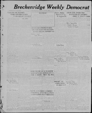 Primary view of object titled 'Breckenridge Weekly Democrat (Breckenridge, Tex), No. 40, Ed. 1, Friday, May 7, 1926'.