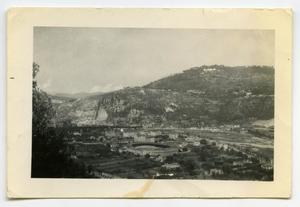 Primary view of object titled '[A Sizable Town Situated in a Valley]'.