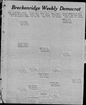 Primary view of object titled 'Breckenridge Weekly Democrat (Breckenridge, Tex), No. 42, Ed. 1, Friday, May 28, 1926'.