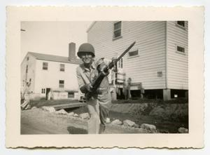 Primary view of object titled '[Photograph of an Armed Soldier]'.
